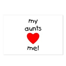 My aunts love me Postcards (Package of 8)