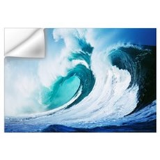 Stormy Ocean Wave Curling Over With Whitewash And  Wall Decal