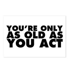 Only as Old as You Act Postcards (Package of 8)
