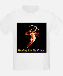 Hunting For My Prince Kids T-Shirt