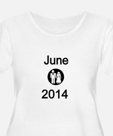 June 2014 Bride and Groom Plus Size T-Shirt