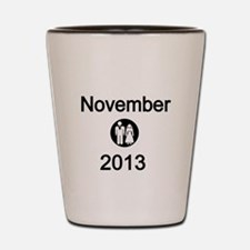 November 2013 Bride and Groom Shot Glass