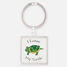 I Love my Turtle Keychains