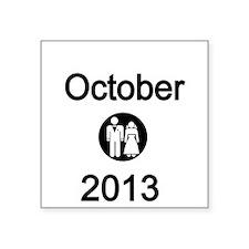 October 2013 Bride and Groom Sticker