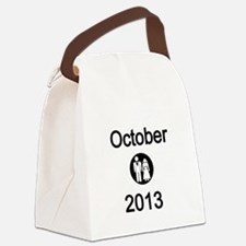October 2013 Bride and Groom Canvas Lunch Bag