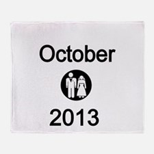 October 2013 Bride and Groom Throw Blanket