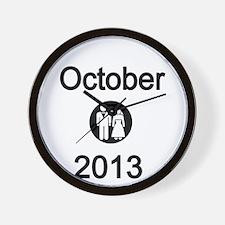October 2013 Bride and Groom Wall Clock