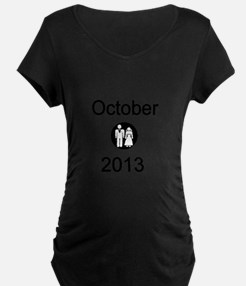 October 2013 Bride and Groom Maternity T-Shirt