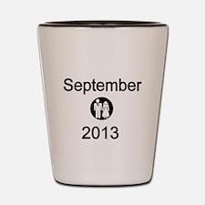 September 2013 Bride and Groom Shot Glass