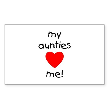My aunties love me Rectangle Sticker