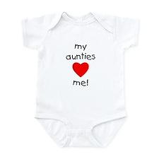 My aunties love me Infant Bodysuit