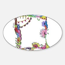 Colorful Abstract Doodle Art Border Design Decal