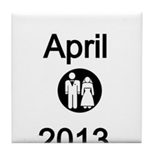 April 2013-Bride and Groom Tile Coaster