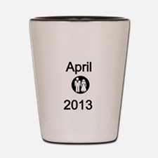 April 2013-Bride and Groom Shot Glass