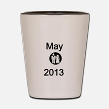 Mayl 2013-Bride and Groom Shot Glass