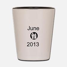 June 2013-Bride and Groom Shot Glass