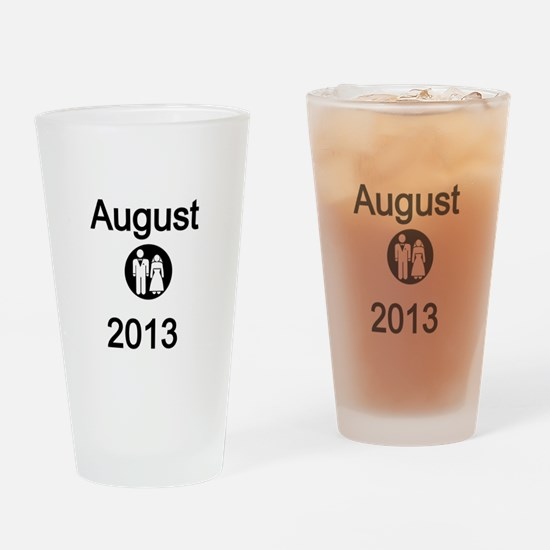 August 2013-Bride and Groom Drinking Glass