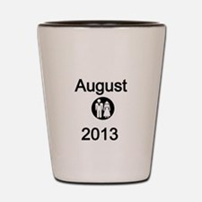 August 2013-Bride and Groom Shot Glass