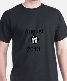August 2013-Bride and Groom T-Shirt