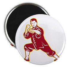 "Shaolin Kung Fu Martial Arts Master Retro 2.25"" Ma"