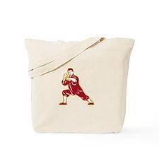 Shaolin Kung Fu Martial Arts Master Retro Tote Bag