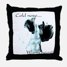 Mastiff Warm Heart Throw Pillow
