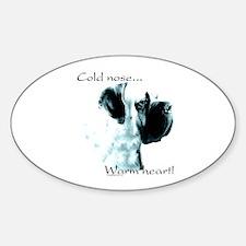 Mastiff Warm Heart Oval Decal