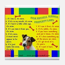 Cute Jack russell terrier Tile Coaster