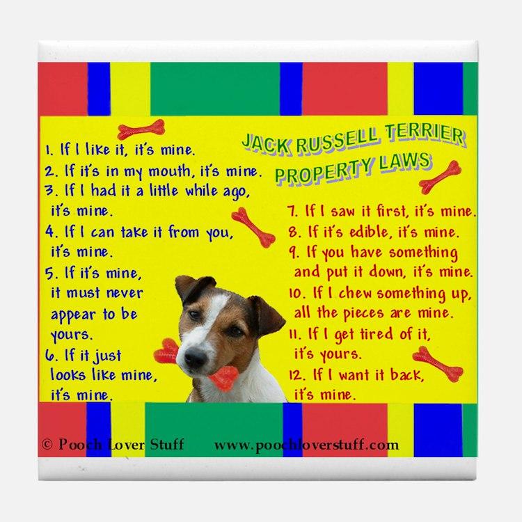 Cute Jack russell terrier Tile Coaster