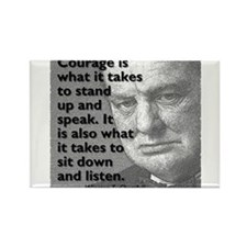 Churchill on courage Magnets
