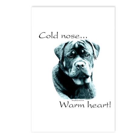 Rottie Warm Heart Postcards (Package of 8)