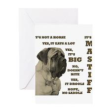 Cute Mastiff dog Greeting Card