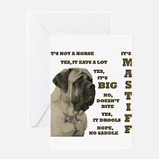 Unique English mastiff Greeting Card