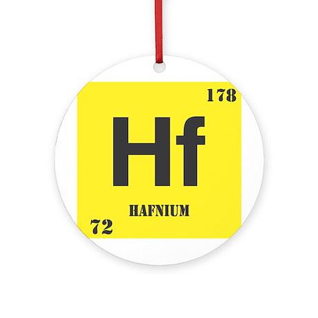 Hafnium Element Ornament (Round)