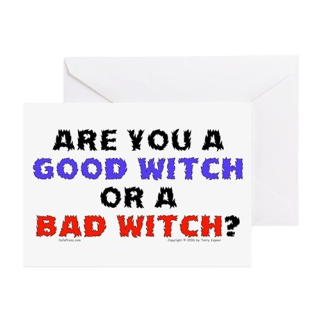 Good Witch or Bad Witch? Greeting Cards (Package o