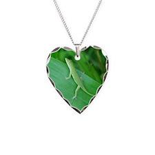 Green Lizard Necklace