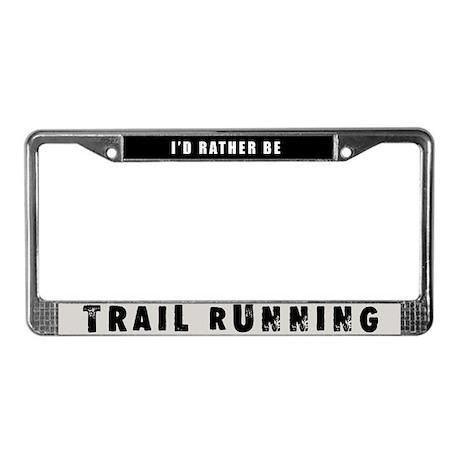 Trail Running License Plate Frame By Rockgrrl