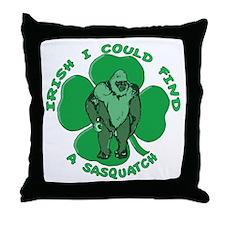 Irish Bigfoot Throw Pillow