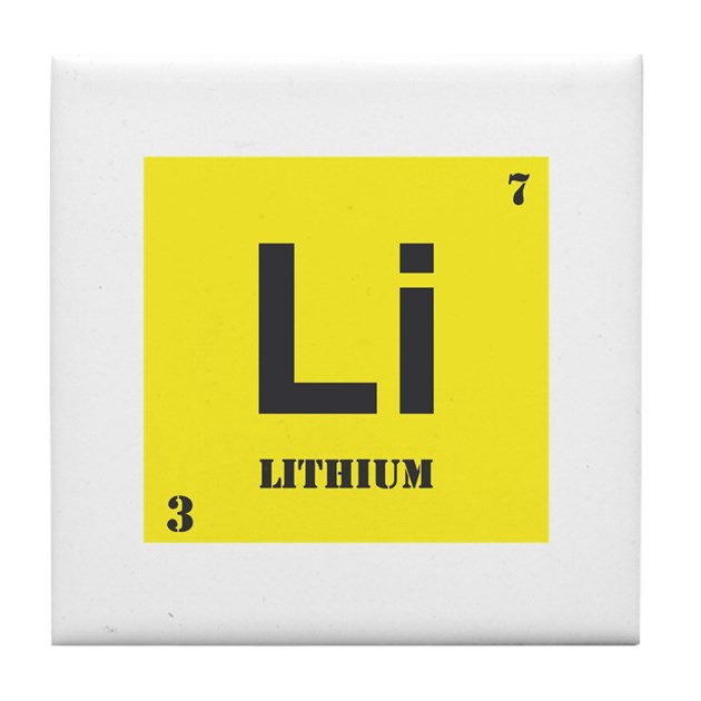 Lithium Element Tile Coaster By Mikeanddan