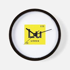 Lutetium Element Wall Clock
