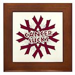 Myeloma Cancer Sucks Framed Tile