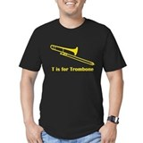 Trombone Fitted T-shirts (Dark)