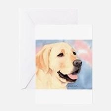 Yellow Lab 2 Greeting Cards