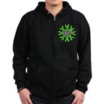 Non-Hodgkins Cancer Sucks Zip Hoodie (dark)