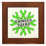 Non-Hodgkins Cancer Sucks Framed Tile