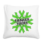 Non-Hodgkins Cancer Sucks Square Canvas Pillow