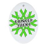 Non-Hodgkins Cancer Sucks Ornament (Oval)
