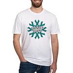 Ovarian Cancer Sucks Fitted T-Shirt