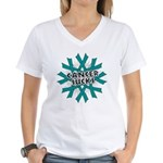 Ovarian Cancer Sucks Women's V-Neck T-Shirt