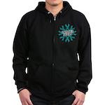 Ovarian Cancer Sucks Zip Hoodie (dark)